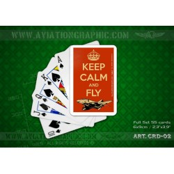 "POKER CARDS ""KEEP CALM AND FLY PHANTOM"" CRD-02"