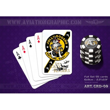 """POKER CARDS """"JOLLY ROGERS VF-103"""" CRD-09"""