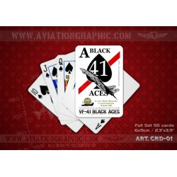 "POKER CARDS ""SIRTE DOGFIGHT: TOMCAT VS SU-22"" CRD-01"