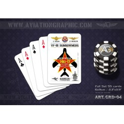 "POKER CARDS ""OLD NICK 201 Mig Kill"" CRD-04"
