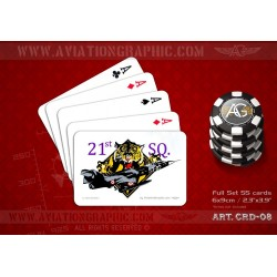 "POKER CARDS ""F-104S 21st SQD TIGERS"" CRD-08"