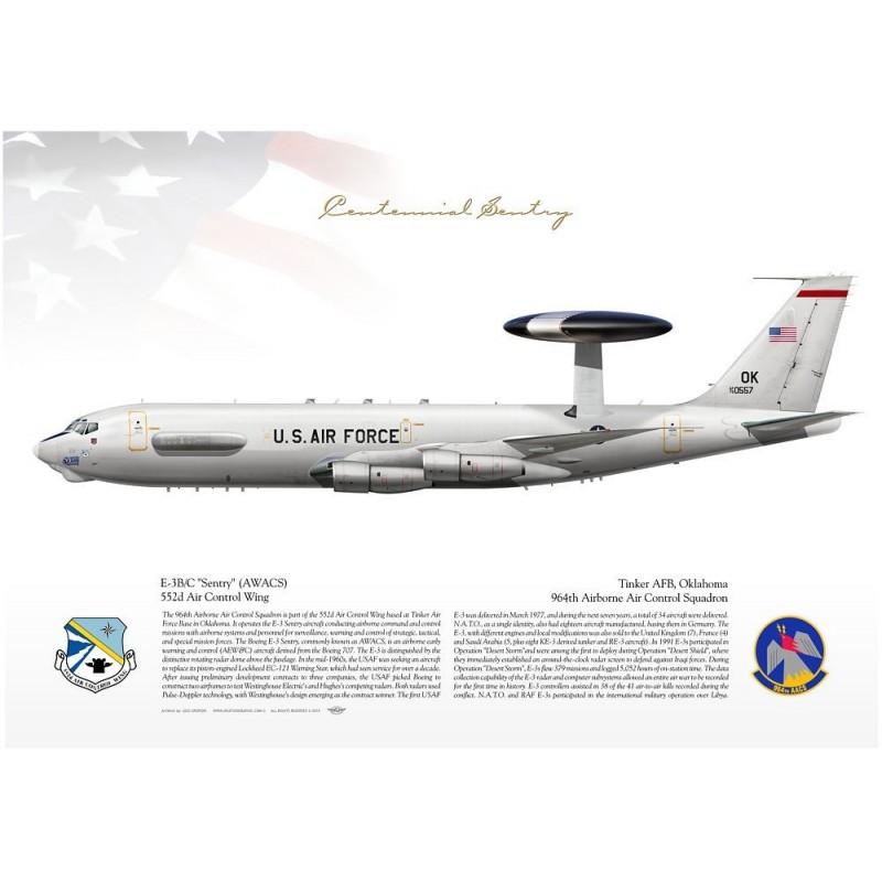 """E-3B """"Sentry"""" (AWACS) 964AACS JP-1604"""