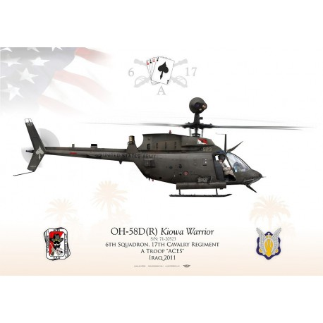 "OH-58D ""Kiowa Warrior"" USARMY A Troops ""Aces"" JP-1193"