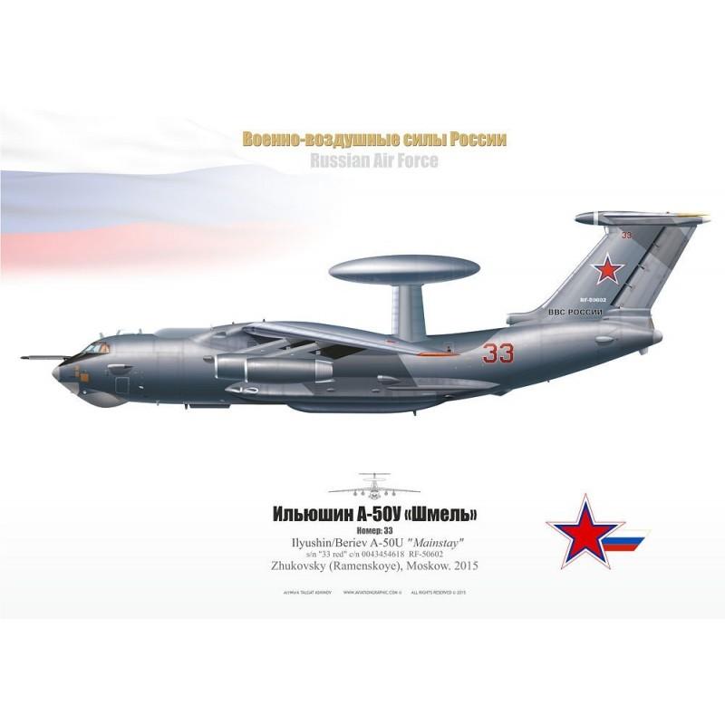 "A-50U ""Mainstay"" 33 red TA-05 - Aviationgraphic"