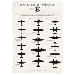 ITALIAN WARPLANES IDENTIFICATION CHART WW2 JP-1867