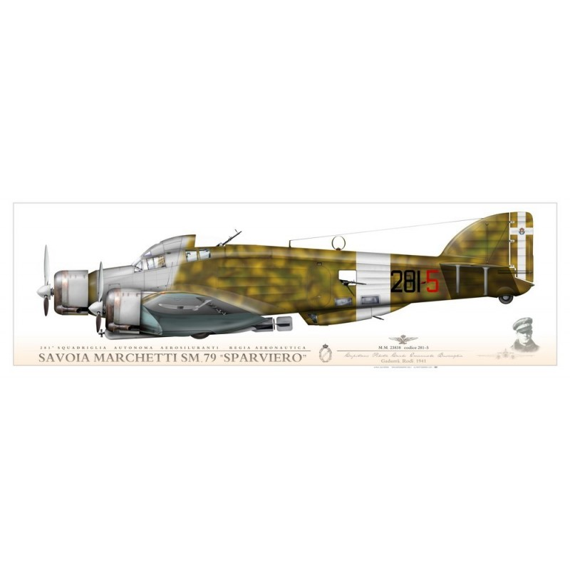 """SM.79 """"Sparviero"""" 281-5 JP-931P - Aviationgraphic"""