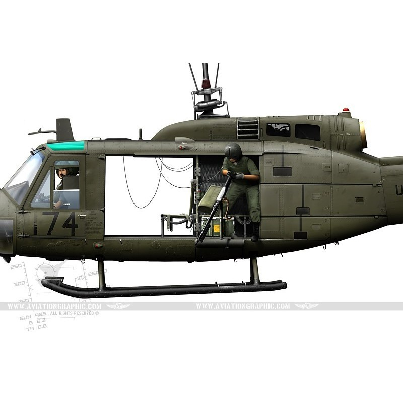 Uh 1 Elicottero : Uh h quot iroquois huey th ahc lc aviationgraphic