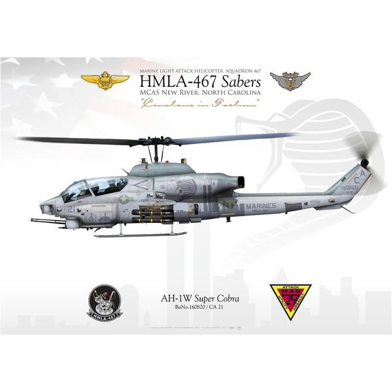 "AH-1W ""Cobra"" HMLA-467 ""Sabers"" JP-1937 - Aviationgraphic"