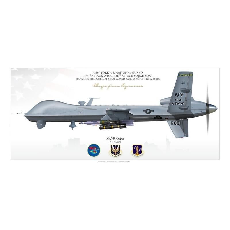"MQ-9 ""Reaper"" (UAV) 174th ATKW JP-2235SP - Aviationgraphic"