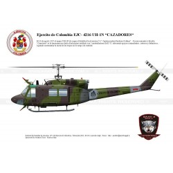 "UH-1N ""HUey"" EJC-4216 ""CAZADORES"" Colombia AG-11"