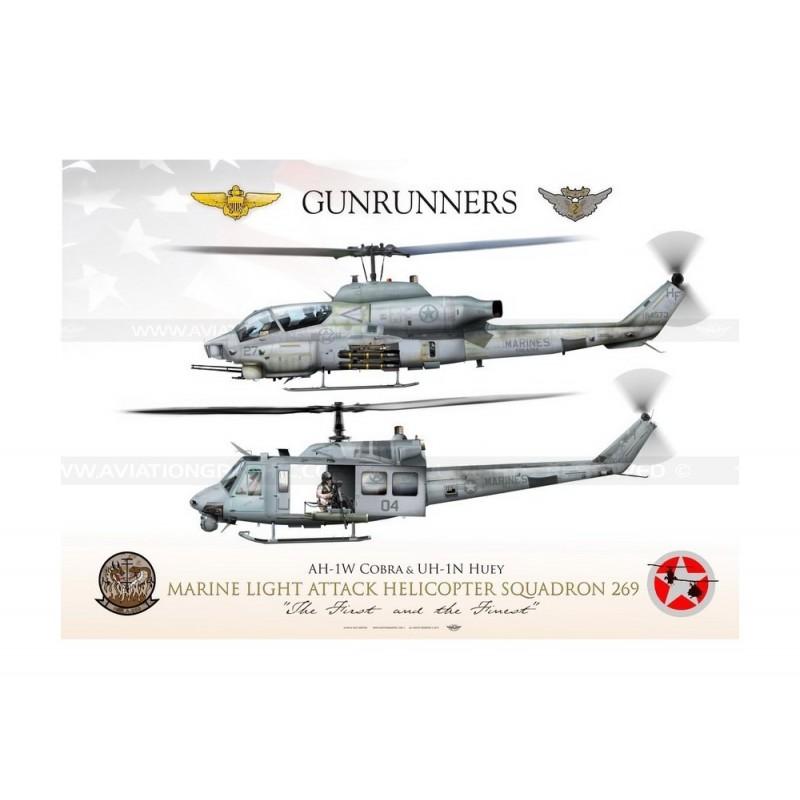 """269: AH-1W & UH-1N HMLA-269 """"Gunrunners"""" JP-1172"""