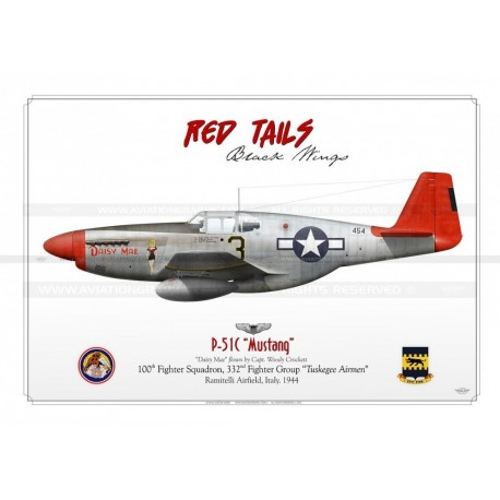 P 51c Mustang 3 Daisy Mae Red Tails Gm 60