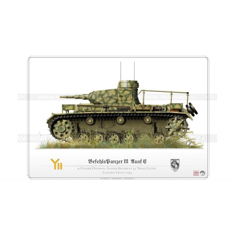 Befehlspanzer III Ausf f 1943 KP-012 - Aviationgraphic