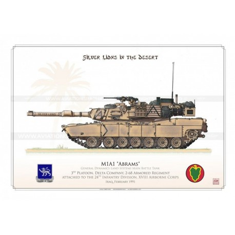 """M1A1 """"Abrams"""" USARMY """"Silver Lions"""" HCP-21"""