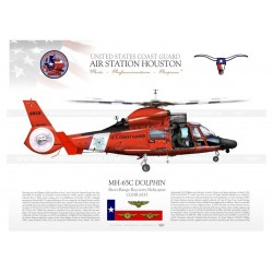 "MH-65C ""DOLPHIN""  USCG HOUSTON JP-1038B"