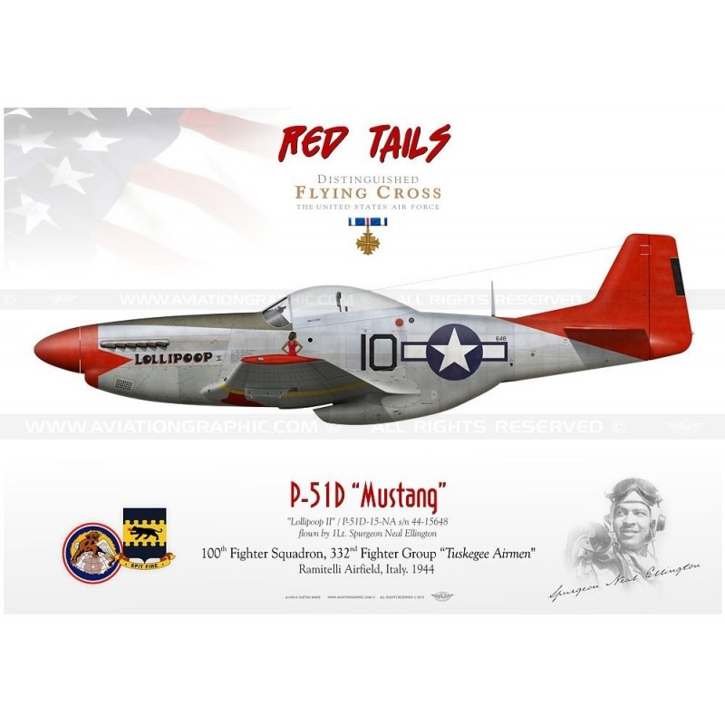 P 51 Red Tails Mustangs