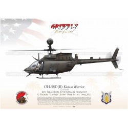 "OH-58D ""Kiowa Warrior"" USARMY G Troops ""Grizzly"" JP-1190"