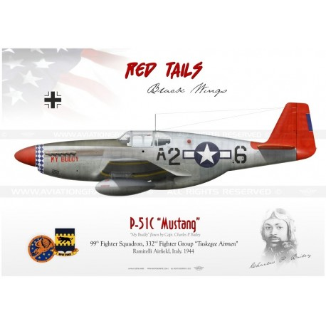 P 51c Mustang A2 6 My Buddy Red Tails Gm 59