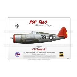 "P-47D ""Thunderbolt"" 39 Red Tails GM-56"