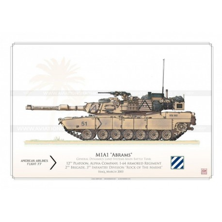 """M1A1 """"Abrams"""" USARMY 3rd Infantry Division HCP-13"""