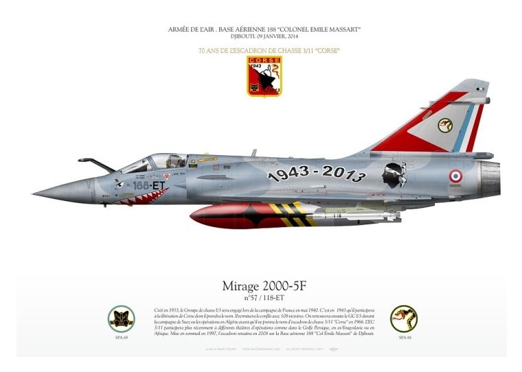 "Mirage 2000 ESCADRON DE CHASSE 3/11 ""CORSE"" FF-20"