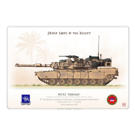 """M1A1 """"Abrams"""" USARMY """"Silver Lions"""" HCP-22"""