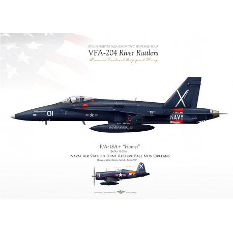 """F/A-18A+ VFA-204 """"River Rattlers"""" JP-1098"""