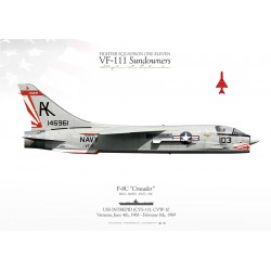 "F-8C ""Crusader"" 103 VF-111 ""Sundowners"" MB-09"