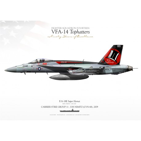 """F/A-18E VFA-14 """"Tophatters"""" JP-1045"""