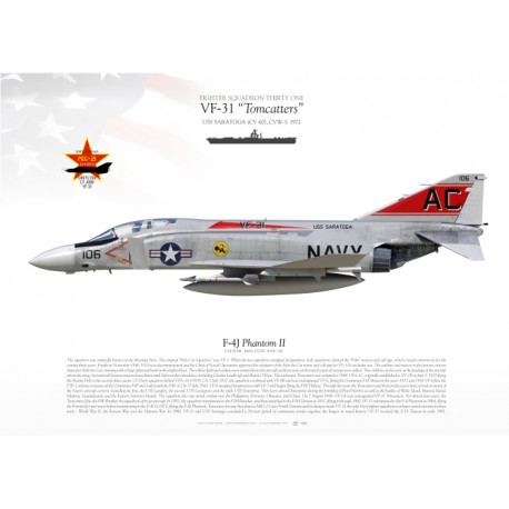 "F-4J ""Phantom II""  106 VF-31  MB-35"