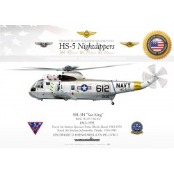 "SH-3H ""Sea King"" USNAVY HS-5 ""Nightdippers"" JP-1091"