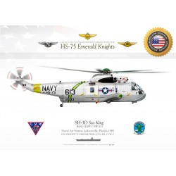 "SH-3D ""Sea King"" HS-75 ""Emerald Knights"" JP-321"