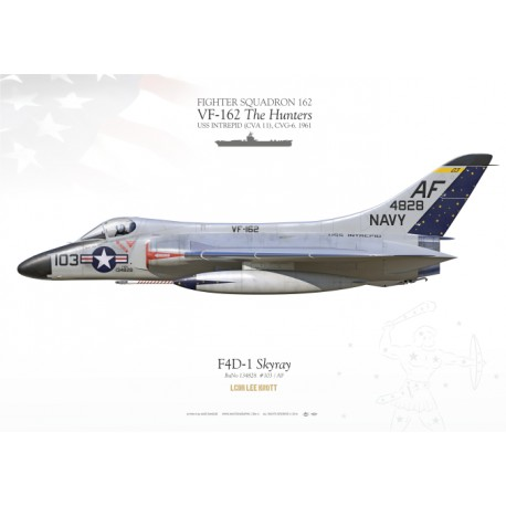 "F4D-1 ""Skyray"" VF-162 ""The Hunters"" MB-100"