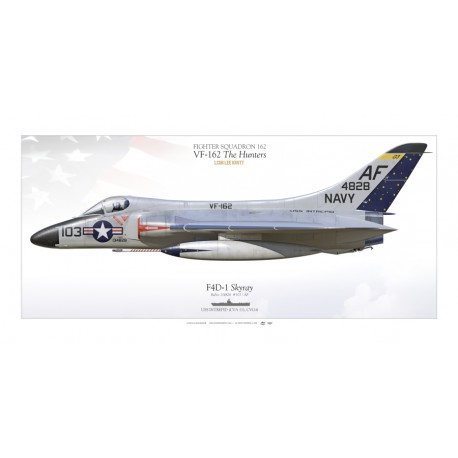"""F4D-1 """"Skyray"""" VF-162 """"The Hunters"""" MB-100SP"""