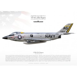 "F3H-2M ""Demon"" VF-61 ""Jolly Rogers"" MB-107"