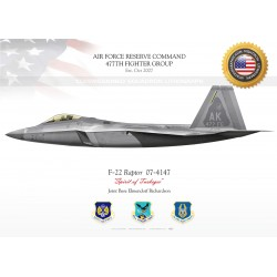 "F-22 ""Raptor"" 477TH FIGHTER GROUP JP-2165"