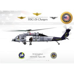 """MH-60S """"Knighthawk"""" HSC-26 """"Chargers"""" JP-1438"""