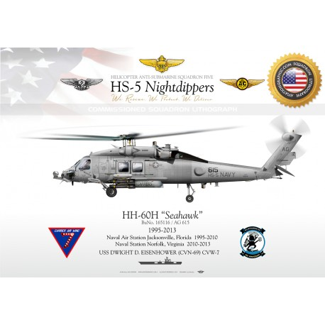 "HH-60H ""Seahawk"" USNAVY HS-5 ""Nightdippers"" JP-1094"