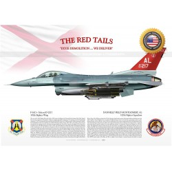 "F-16C+ ""Falcon"" 100th FS ""THE RED TAILS"" JP-1508"