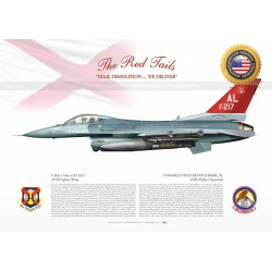 """F-16C+ """"Falcon"""" 100th FS """"THE RED TAILS"""" JP-1508B"""