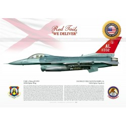 "F-16C+ ""Falcon"" 100th FS ""THE RED TAILS"" JP-1508C"