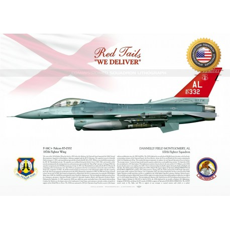 """F-16C+ """"Falcon"""" 100th FS """"THE RED TAILS"""" JP-1508C"""