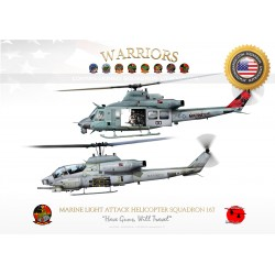 "UH-1Y  & AH-1W HMLA-167 ""Warriors"" JP-1230B"
