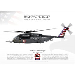 "MH-53E ""Sea Dragon"" HM-15 ""The Blackhawks JP-1982"