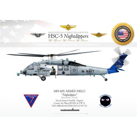 "MH-60S ""Armed Helo / Canvas"" HSC-5 ""Nightdippers"" JP-1581"