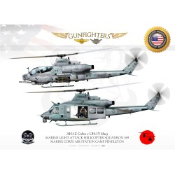 "HMLA-369 ""Gunfighters"" ""Viper&Huey"" JP-1580"