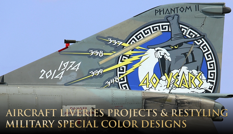 aircraft liveries project and design, military special colors